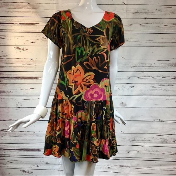 bc8ee4615707c Vintage Dresses | Jams World Pullover Tropical Sheath Dress | Poshmark